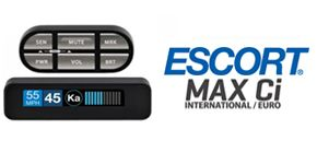 Radar detector ESCORT MAX CI INTL - 2018 Model with MRCD/MRCT detection provides complete drivers protection