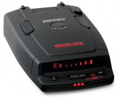 Radar detector Escort RedLine International - new twin antenna design provides an all new level of radar performance...