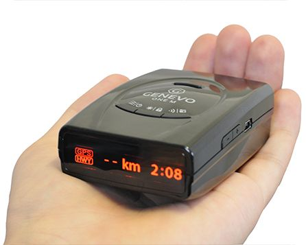 Radar detector Genevo ONE M - The European best selling portable detector with Multaradar CD/CT and GATSO RT3/RT4 detection.